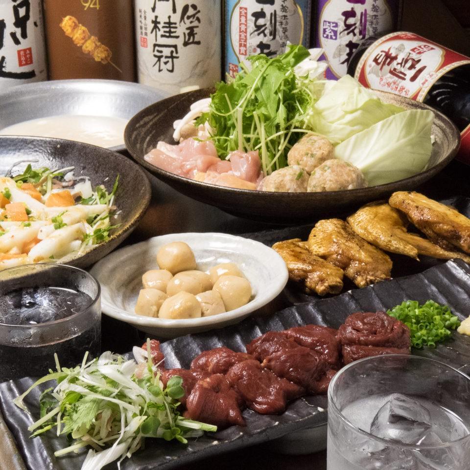 とりいちず酒場 亀有北口店の鶏料理が満喫できるコース